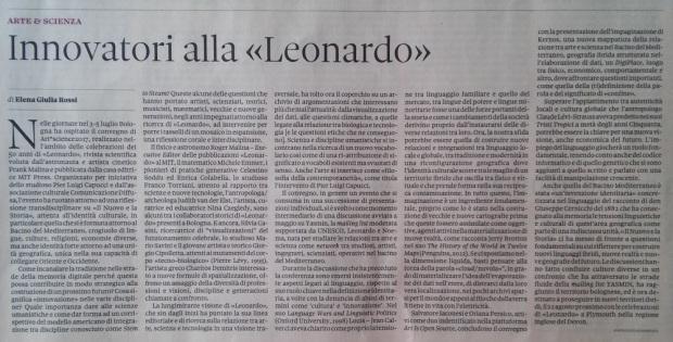 Mario Savini Il Sole 24 Ore Arte Scienza Bologna
